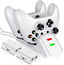 Controller Charger for Xbox one, Dual Controller Charging Station for Xbox One/One X/One S/One Elite, Charging Dock with 2...