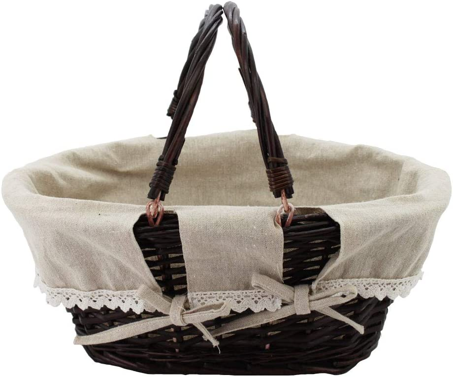 Wicker Picnic Baskets Handle Basket Two Movable Hand with Max Philadelphia Mall 65% OFF