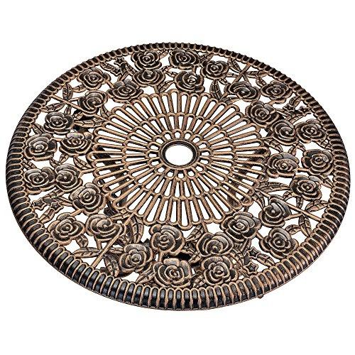 casa.pro Gartentisch/Bistro-Tisch 60cm, rund, Bronze mit 2 Stühlen - Französische Gartenmöbel im Antik-Look für Balkon/Terrasse - Bistro-Set wetterbeständig, Gusseisen-Metall als Gartendeko - 2
