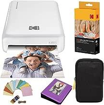 KODAK Mini2 Instant Photo Printer (White) Deluxe Bundle + Paper (20 Sheets) + Deluxe Case + Photo Album + Hanging Frames