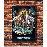 WEUEWQ ポスター ポスターと版画アーチャーテレビ番組FXアダルトスイムホットギフトアートポスターキャンバス絵画家の装飾-60x80cmx1フレームなし