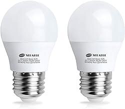 Waterproof LED Refrigerator Light Bulb 4 Watt, Seealle Freezer Bulbs, A15 E26 Medium Base Fridge Light Bulb, 40 Watt Equivalent 120V, Daylight White, Not-Dim (Pack of 2)