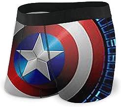 Captain America Men's Boxer Briefs - 1 Pack Regular No Ride-up Breathable Comfortable Fiber Sport Underwear,Size X-2XL