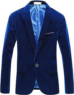 SANJAR メンズ (3色選択) ベロア ジャケット ベルベット カジュアルジャケット スーツ (インナーシャツなし)M L XL XXL XXXL XXXXL
