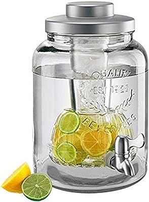 Artland - Tarro para bebidas con enfriador e infusor, 2 galones, transparente