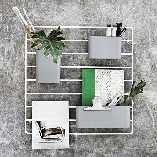 String - Wandleiter weiss + 3 Organizer Boxen grau