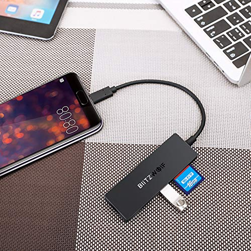 Adaptador 5 en 1 Tipo-C- 3 puertos USB 3.0+ SD + TF