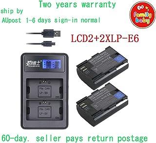 KEENKI LCD2 USB Charger +2xLP-E6 Battery for Canon LP-E6N EOS 5D 6D 7D Mark 2/3 70D 80D AU-Ship