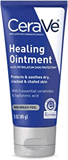 CeraVe Healing Ointment   3 Ounce   Cracked Skin Repair Skin Protectant with Petrolatum Ceramides   Lanolin & Fragrance Free
