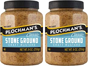 Plochmans Stone Ground Mustard 9 oz (Pack of 2) [Packaging May Vary]