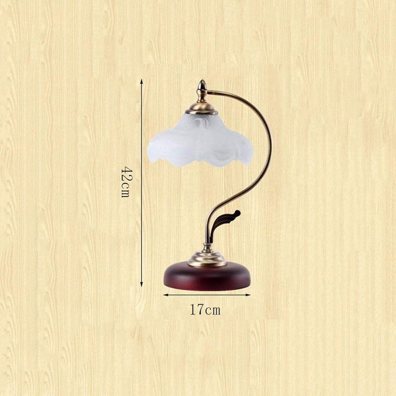 AAGZQQ Tischlampe-Home Decoration Europischen Schlafzimmer Nachttischlampe, Kreative Persnlichkeit Mode Garten Warme Dekorative Lichter LED-Schalter Tischlampe