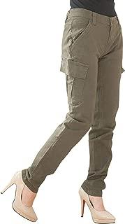 [Happy Honu(ハッピー ホヌ)] カーゴパンツ 細見せ コットン ストレッチ ゆったり ポケット チノパン アウトドア カジュアル 大きいサイズ レディース
