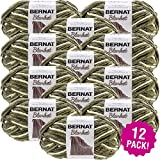 Bernat Gathering Moss, Blanket Big Ball Yarn, Multipack of 12, 12 Pack