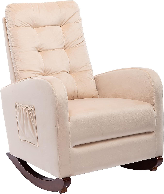 Ranking TOP3 Ranking TOP17 Dolonm Rocking Chair Mid-Century Nursery Modern Armchair