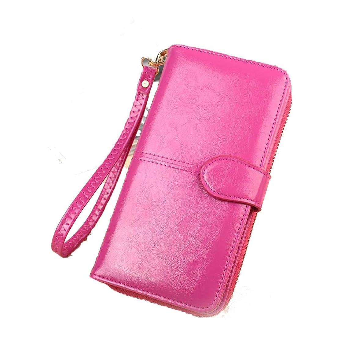苦情文句手を差し伸べるルーキーハンドバッグの女性の手持ち株の携帯用長財布輸出シンプルなオイルワックススキン電話変更カードバッグ