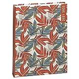 Exacompta Forum Color Design 184538E Agenda 1 jour par page 12X17 cm août 2021 à Juillet 2022 motif feuilles