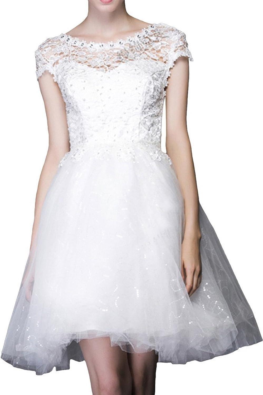 Avril Dress Women's Modern Beaded Ball Gown Tulle Bridesmaid Dress Short