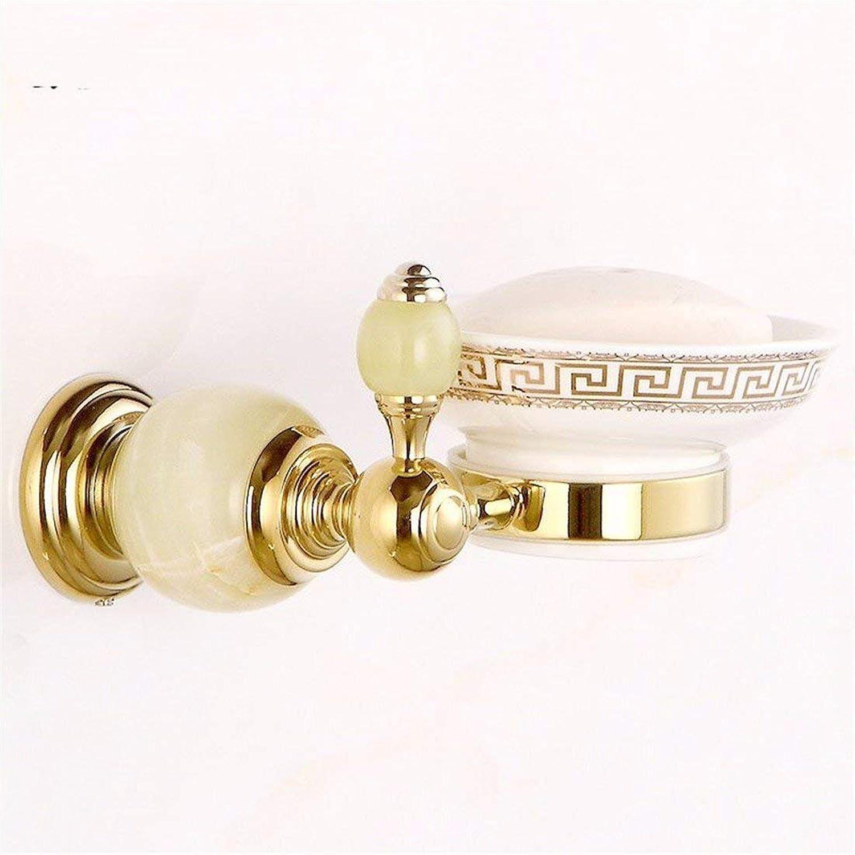 The European Mode Jade gold Copper Base Bathroom Accessories Door Hook Paper Package,Door-soap