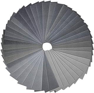 Anezus 90Pieces Sandpaper Assortment 400 to 3000 5000 7000 Grit Wet Dry Fine Sand Paper Assortment for Automotive Sanding ...