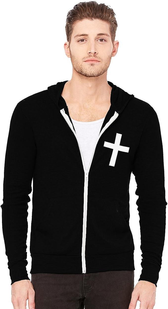 Christian Cross High quality new Men's Triblend Full-Zip Lightweight excellence Hoodie