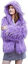 Women's Winter Faux Fur Overcoat Parka Hooded Jacket Plush Thick Warm Fashion Casual Long Sleeve Outwear Daorokanduhp