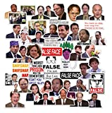 The Office Season Sticker Pack of 50 Stickers TV Show Vinyl Cool Water Bottle Bicycle Motorcycle Phone Luggage Skateboard Guitar Bike Durable Sticker Decal