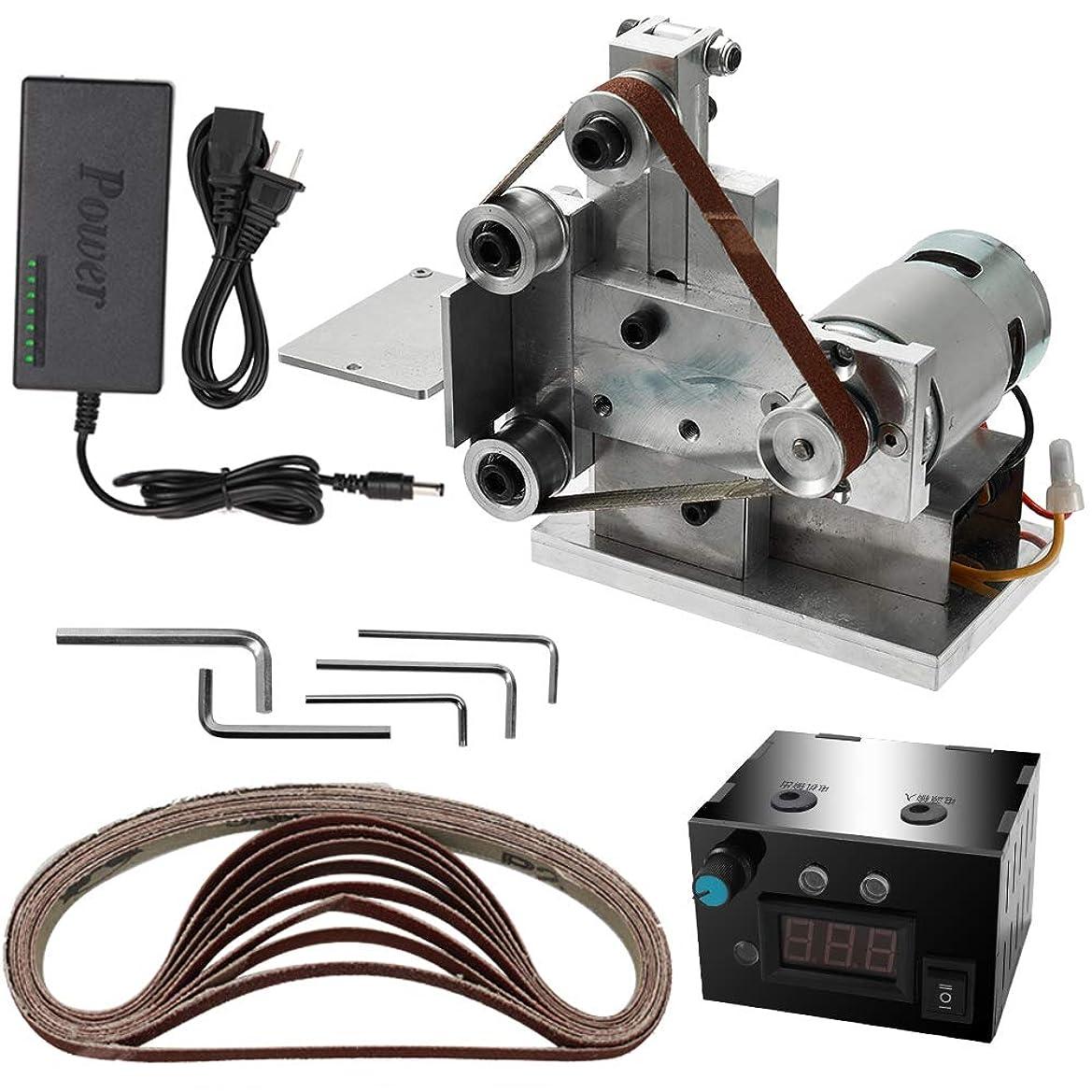 聴衆未使用センチメンタルKKmoon ベルトサンダー グラインダー ミニ電動ベルトサンダー DIY 研磨 研削盤 カッターエッジシャープナー