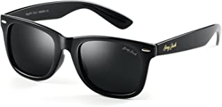 Classic Polarized Horn Rimmed Sunglasses for Men Women