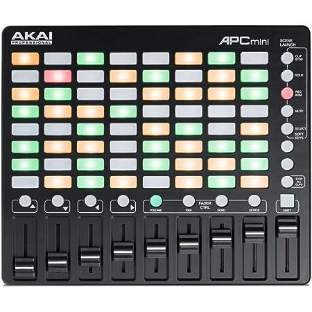 AKAI Professional APC MINI Contrôleur MIDI Ultraléger pour Ableton Live avec 64 Pads Rétro-Éclairés et 8 Faders Assignables