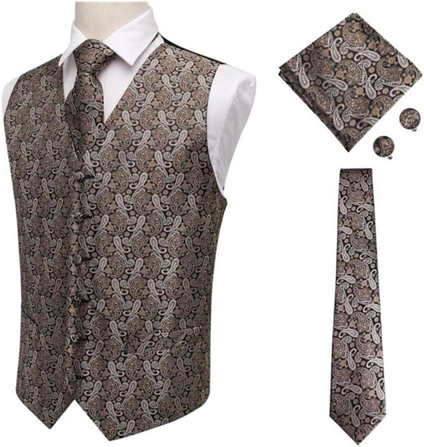 Max 67% OFF SALENEW very popular QWERBAM Men's Blue Silk Jacquard Waistcoat Cuf Handkerchief Vest