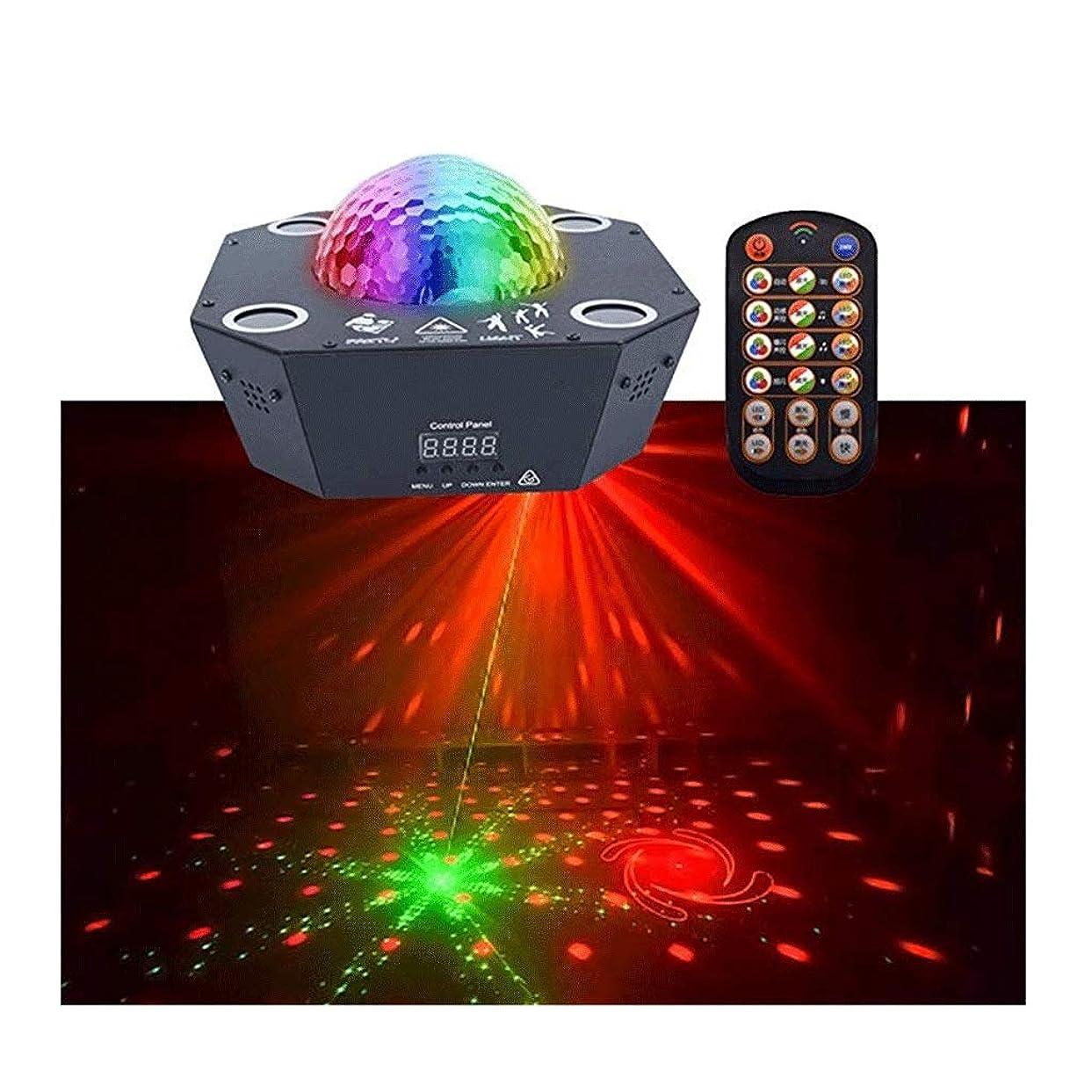 負担海港パンダXSAK01 ディスコボールライト-4チャネルリモートコントロール音声ステージライト25 w RGBW照明パーティーライトクリスマスガーデン装飾 1 (Color : Black, Size : 20.5*20.5*8cm)
