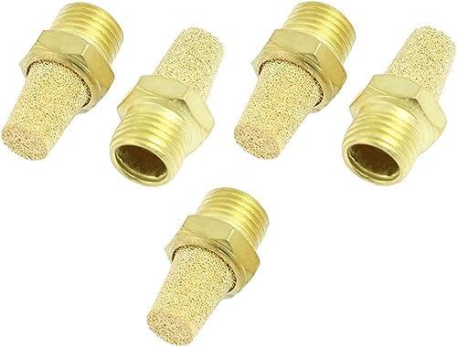 """URBEST 10Pcs Solenoid Valve Pneumatic Muffler Filter Noise Silencer 1/4"""" PT Thread Pneumatic Air Cylinder Accessories"""