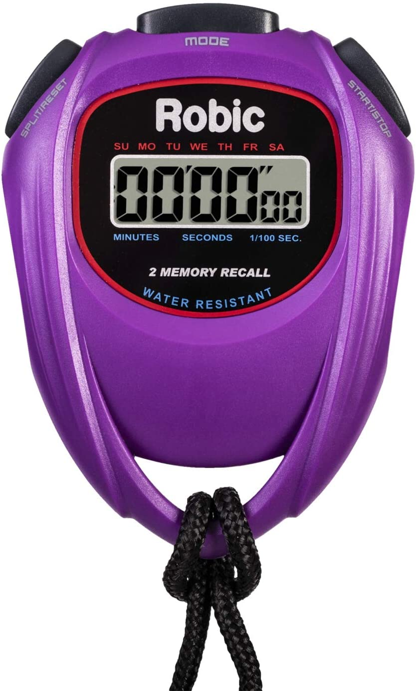 Robic 429-67991 Easy to Use High Presision Stopwatch, Purple