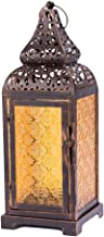 Vintage Color Glass Candle Lantern Unique Moroccan Style Lamp Candle Holder for Home