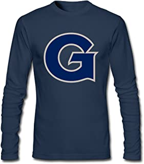 Men's Fashion Georgetown Hoyas Logo Long Sleeve Tees Shirt