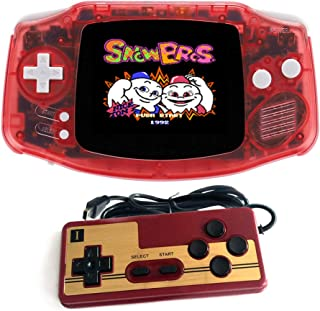 DREAMHAX Two Players Retro Game Console + Game Pad, with 2.8 Inch Screen 400 Retro Games, Double Players Rechargeable TV Connectable, Handheld Game Console Video Games, Gifts for Kids Adults (Red)