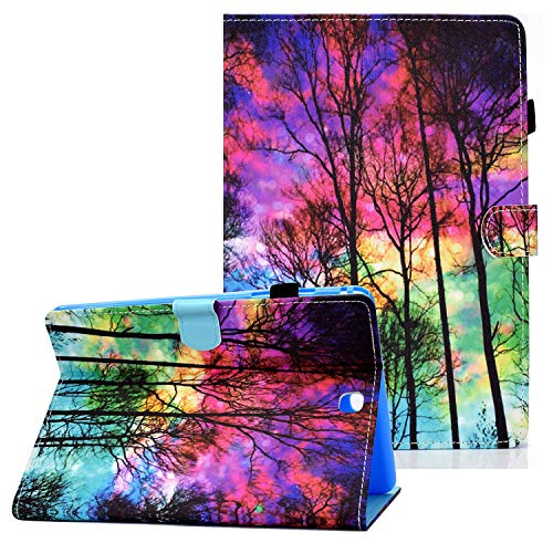 Coopts Galaxy Tab A 9.7 Cases and Covers for SM-T550/SM-P550, Colorful PU Leather Magnetic Cover with Multi-Angle Viewing Stand Shockproof Sleeve for Samsung Galaxy Tab A 9.7 inch 2015, Dusk Tree