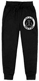 Dxqfb Born To Fish Forced To Work Boys Sweatpants,Sweatpants For Boys