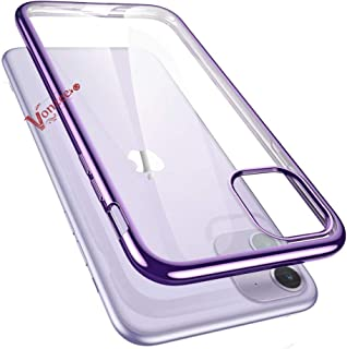 Vonzee® Case for iPhone 11, Ultra Thin Fashion Soft Silicon Transparent Laser Plating Luxury Cover Case for iPhone 11 6.1 inch 2019, Purple