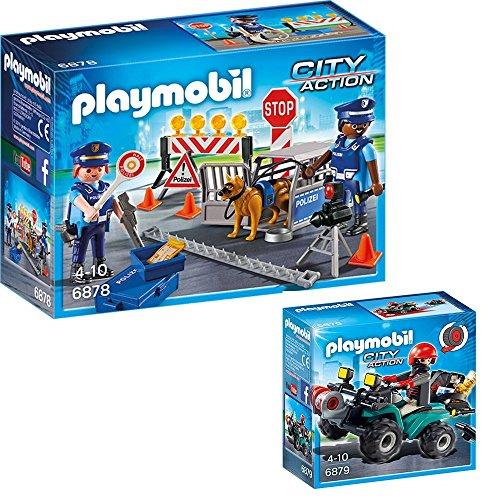 PLAYMOBIL Policia Set: 6878 Control policial