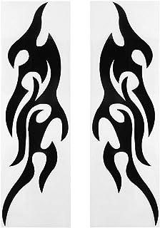 Blackfell 2ピース火災炎ステッカースタイリングカーオートサイドドアトラックバンパーウィンドウラップトップカットビニールデカールアクセサリー