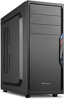 Sharkoon VS4-V - Caja de Ordenador, PC Gaming, Semitorre ATX, Negro