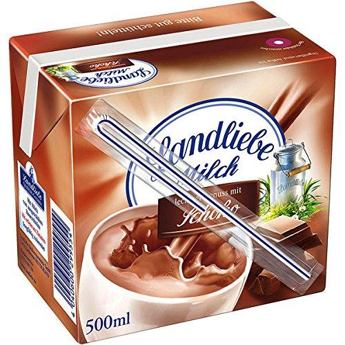 Landliebe Milch leckerer Genuss mit Schoko mit Trinkhalm 12 x 0,5l