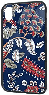 for iPhone XR Plus Case,Seamless Pattern with Fantasy Flowers, Natural Wallpaper, Floral Shock Absorption Technology Bumper Soft TPU Cover Case