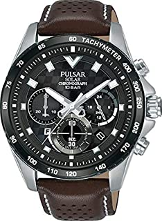PULSAR Men's Analogue Quartz Watch with Real Leather Strap PZ5109X1