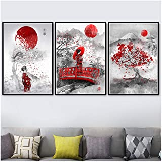 Suuyar Kunst Ölgemälde Japanischen Zen Tinte Bonsa Bushido