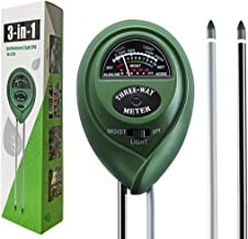 Dooppa 3-in-1 Soil pH Meter, Plant Soil Tester Kit with Moisture,Light and PH Test for Garden Farm Lawn, Indoor & Outdoor Use