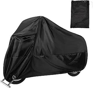 Plateado//Negro, L Bolsa de Almacenamiento Scooter Funda Impermeable para Motocicleta Transpirable SurePromise protecci/ón UV
