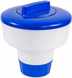 """Covermason Diffuseur 8 Pouces PVC de Grande Piscine Bleue et Blanche Flottant Distributeur de Chlore 8""""de diamètre x 8"""" en..."""