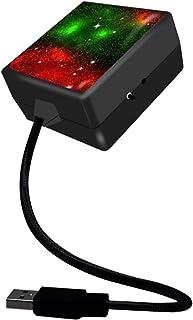 MERIGLARE Lâmpada LED para Teto de Carro Luzes Do Projetor para Atmosfera Lâmpada Decorativa - vermelho verde